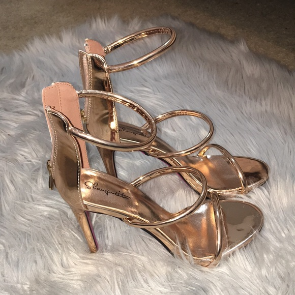 Marthea Rose Gold Tube Strap Heeled Sandals Pretty Little Thing MgB9q